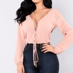 Fashion nova blush top